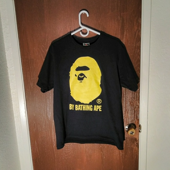 652ffd1c Bape Shirts | Tshirt Yellow Ape Head Size L | Poshmark